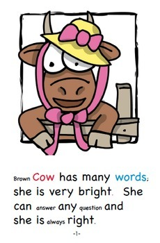 Word Family Readers Book #59 Questions for Brown Cow