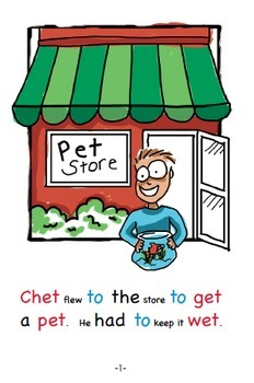 Word Family Readers Book #6 Chet Finds Pets