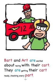 Word Family Readers Book #64 Bart and Arts Racing Cart