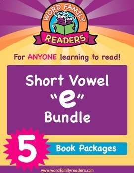 "Word Family Readers - Short Vowel Group: ""e"" Bundle (Books 6-10)"