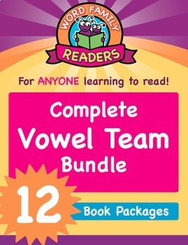 Word Family Readers - Vowel Team: 12 Book Bundle