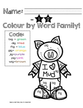 I Know Word Families: Short 'i' Review (-ig) FREEBIE