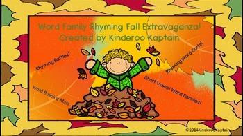 Word Family Rhyming Fall Extravaganza