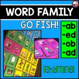 Word Family Rhyming Go Fish--ad, -ed, -ab, ob