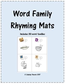 Word Family Rhyming Mats