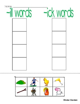 Word Family / Rhyming Printables