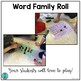 Word Family Roll (word work literacy center game)