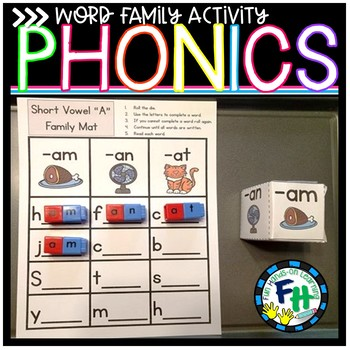 Word Family Roll & Write Activity Set