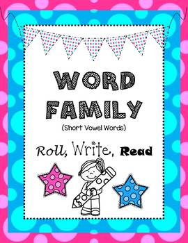Word Family Roll, Write, Read