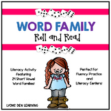 Word Family Roll and Read - Center Activity
