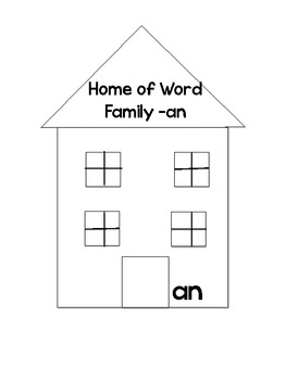 Word Family Rotating House Freebie
