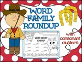 Word Family Roundup with Blends & Digraphs