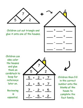 36 Fact Family Interactive Puzzles