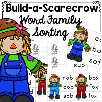 Autumn Word Family Scarecrows {CVC, Short Vowels}