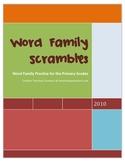 Word Family Scrambles