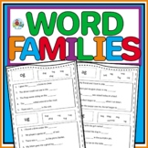 WORD FAMILY SENTENCE PRACTICE FOR FIRST AND SECOND GRADE