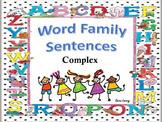 Word Family Sentences Complex
