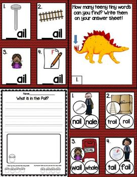 Word Family Series: Ail Like in Mail (A Word Family Word Work Unit)