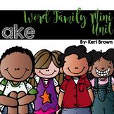 Word Family Series {-ake}