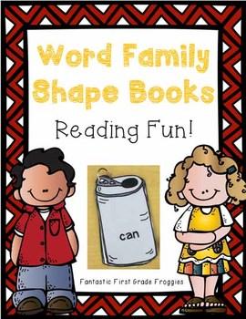 Word Family Shape Books