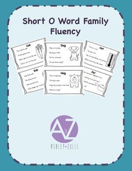 Word Family Short O Fluency