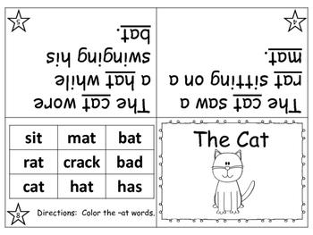 Word Family / Short Vowel Printable Mini Books Bundle  (-at, -ed, -ig, -og, -ug)
