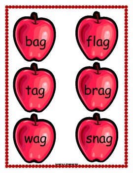 Word Family Short Vowel Sort with Answer Sheet - 6 Sets of Cards per Vowel