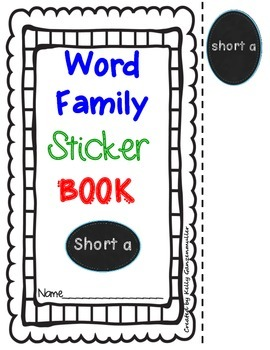 Word Family *Short a* Sticker Book