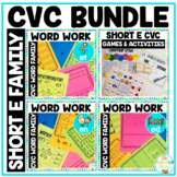 Word Families Short 'e' CVC Word Work Bundle