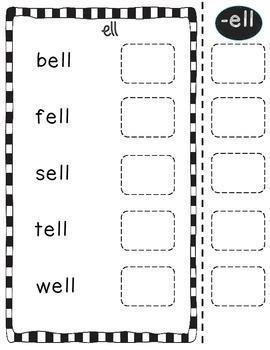 Word Family *Short e* Sticker Book