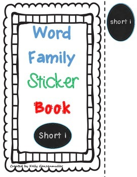 Word Family *Short i* Sticker Book
