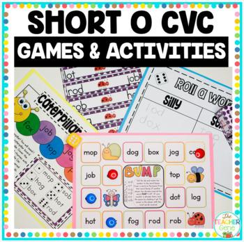 Word Family Short 'o' CVC Word Work Bundle
