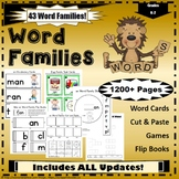 Word Family Sight Word Activities OVER 1000 PAGES!