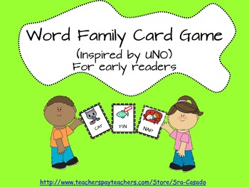 Word Family Sight Word Card Game and flash cards