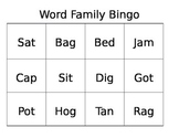 Word Family Site Word Bingo Game