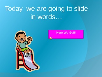 Word Family Slide with -In Words