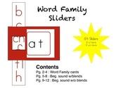 Word Family Sliders
