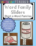 Word Family Sliders - Short a Word Families