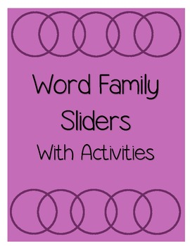 Word Family Sliders with Activities
