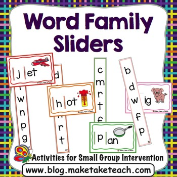 Word Family Sliders