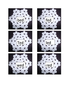 Word Family Snowflakes Part a