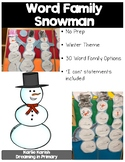 Word Family Snowman