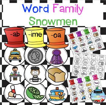 Word Family Snowmen