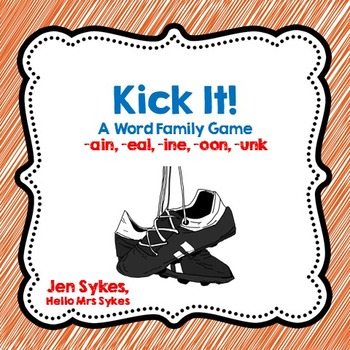 Word Family Soccer Card Game