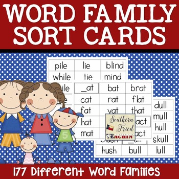 Word Family Sort Cards