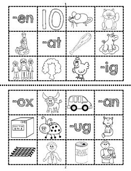 Word Family Sort: Cut and Paste