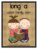 Word Family Sort- Long A