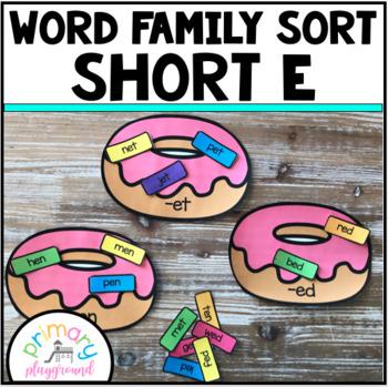 Word Family Sort Short E