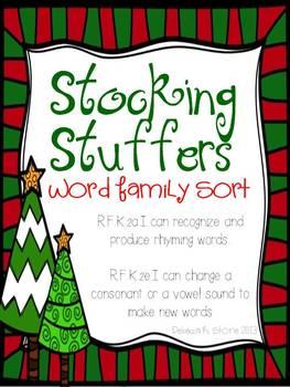 Word Family Sort {Stocking Stuffers}