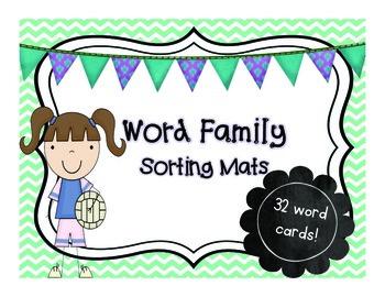 Word Family Sorting Mats